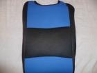 Kék betétes  trikó autóüléshuzat vastag vászon anyagú