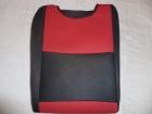 Piros betétes trikó autóüleshuzat vastag vászon anyag