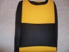 Sárga betétes trikó autóüleshuzat vastag vászon anyag